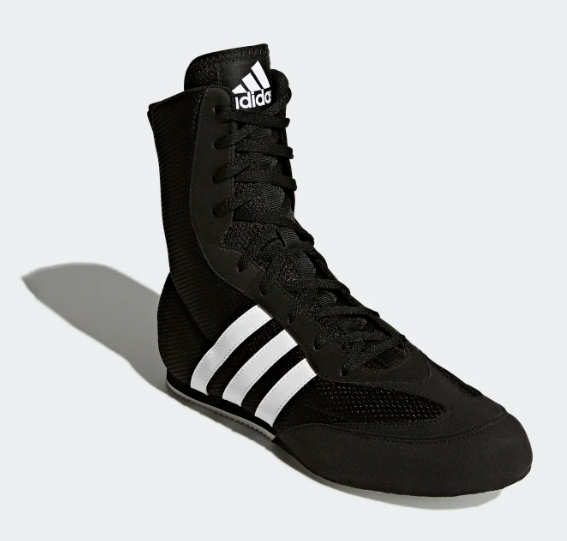 Adidas Boxing Shoes Black & White - BOXING AT THE DEPOT