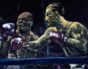 Rocky Marciano Painting 11×14 Print