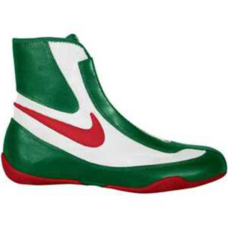 Nike Machomai Boxing Shoes Green/Red/White